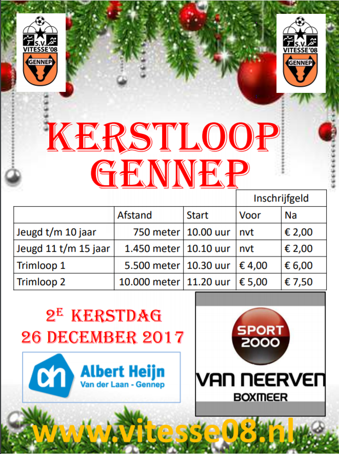 flyer kerstloop Gennep